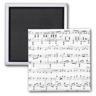 White Sheet Music Magnet