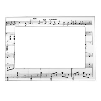 white sheet music magnetic photo frame - Music Note Picture Frame