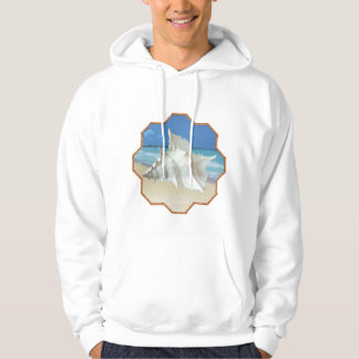 White Shell by the Sea Shore Hoodie