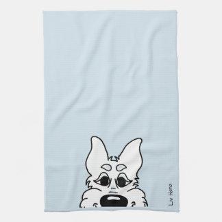 White shepherd dog Smile Towel