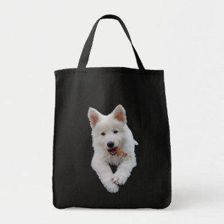 White Shepherd puppy Tote Bag