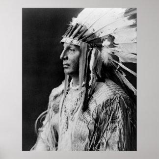 White Shield - Arikara Native American Indian Poster