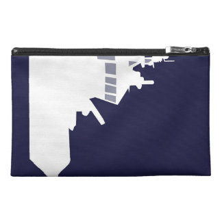 White ship travel accessory bags