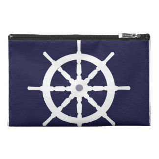 White ship s wheel travel accessories bags