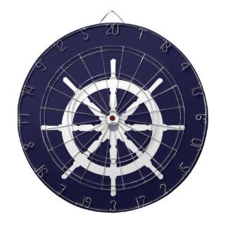 White ship's wheel. dartboards