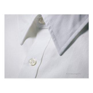 White shirt collar detail. postcard