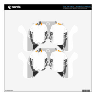 White shirt template design skins for PS3 controllers
