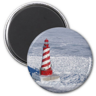 White Shoal Lighthouse 2 Inch Round Magnet