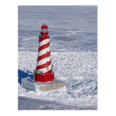 White Shoal Lighthouse Postcard at Zazzle