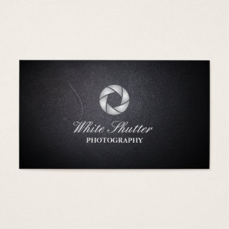White Shutter Photography Dark Business Card