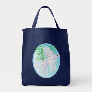 White Siamese Fighting Fish Bags