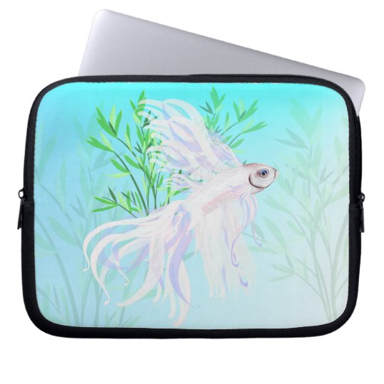 White Siamese Fighting Fish Electronic Bags