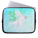 White Siamese Fighting Fish Electronic Bags Computer Sleeves