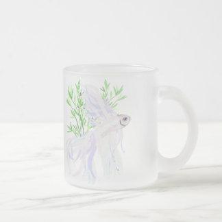 White Siamese Fighting Fish Mugs
