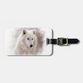 WHITE SIBERIAN HUSKY. TAG FOR LUGGAGE