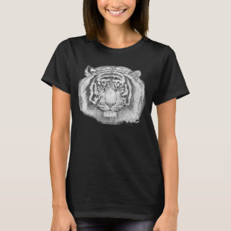 White Siberian Tiger Black & White Art T-Shirt