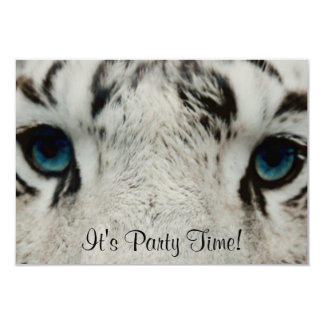White Siberian Tiger Card