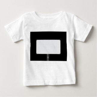White Sign Black Baby T-Shirt