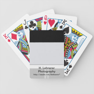 White Sign Black Bicycle Playing Cards