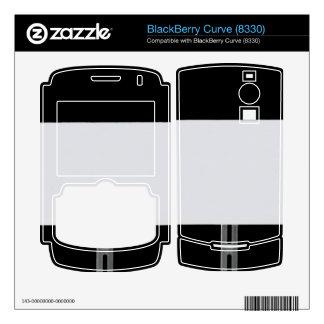 White Sign Black BlackBerry Skins