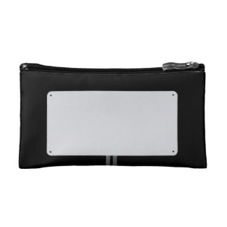 White Sign Black Makeup Bag