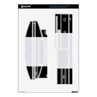White Sign Black PS3 Console Skin