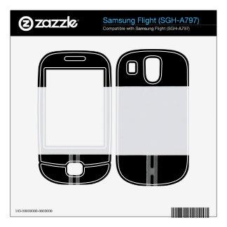 White Sign Black Samsung Flight Skin
