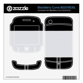 White Sign Black Skins For BlackBerry