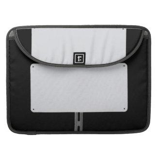 White Sign Black Sleeve For MacBooks