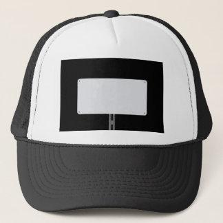 White Sign Black Trucker Hat