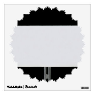 White Sign Black Wall Decal