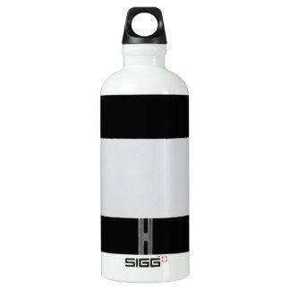 White Sign Black Water Bottle