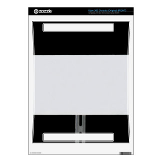 White Sign Black Xbox 360 Decal