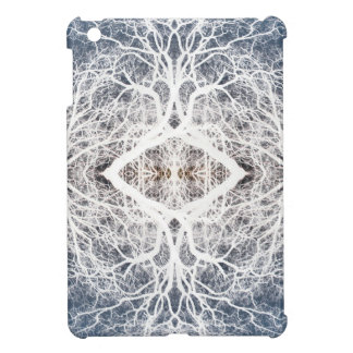 White silhouetted tree pattern case for the iPad mini