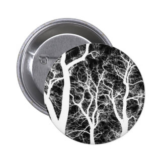 White Silhouetted Trees Button