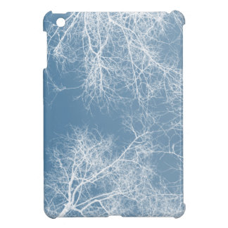 White silhouetted trees cover for the iPad mini
