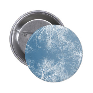 White silhouetted trees pinback button