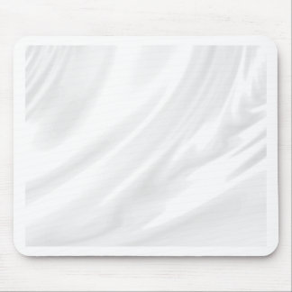White silk elegant chic fabric by healing love mouse pads