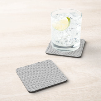 White Silver Carbon Fiber (Faux) Patterned Drink Coaster