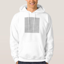 White Silver Carbon Fiber (Faux) Patterned Hoodie
