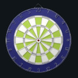"White, Silver, Lime, And Navy Dartboard With Darts<br><div class=""desc"">White,  Silver,  Lime,  And Navy Blue Colored Dart Board Game Including 6 Brass Darts</div>"