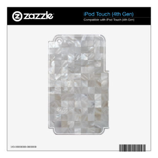 White Silver Mother Of Pearl Tiled iPod Touch 4G Skins