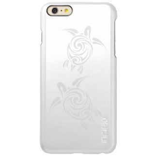 White Silver  Sea Turtles Tribal Animal Incipio Feather Shine iPhone 6 Plus Case