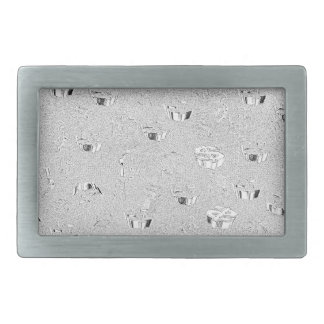 WHITE SILVER  $ SIGNS EMERGING BELT BUCKLE