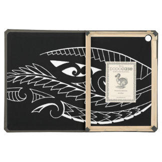 White silverfern New Zealand national symbol art Cover For iPad Air