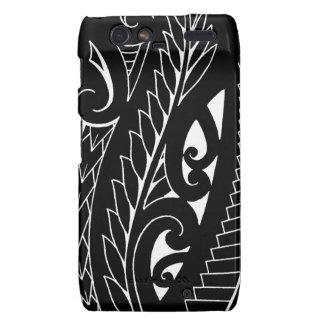 White silverfern New Zealand national symbol art Droid RAZR Cases