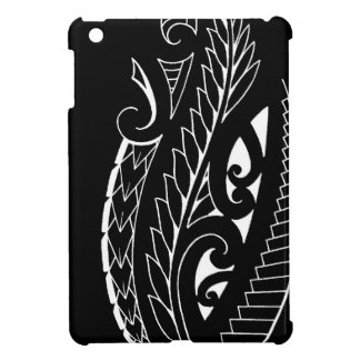 White silverfern New Zealand national symbol art Cover For The iPad Mini
