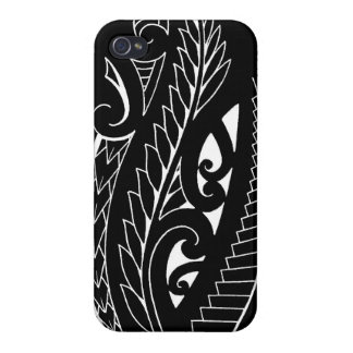 White silverfern New Zealand national symbol art iPhone 4 Cover