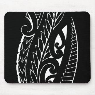 White silverfern New Zealand national symbol art Mouse Pad