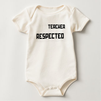 White Simple Deserve To Be Respected Teachers' Day Baby Bodysuit